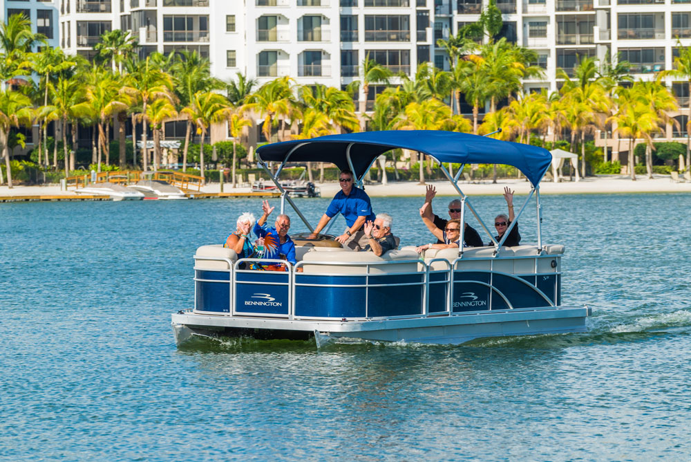 Miromar Lakes Offers Public Boat Tours of their Award-Winning Waterfront Community located between Naples and Fort Myers