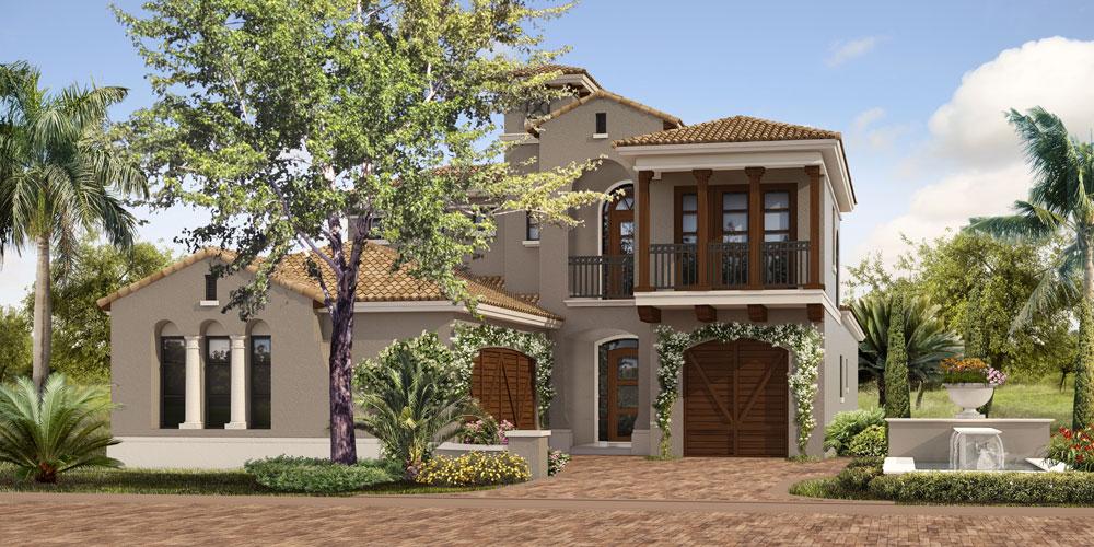 Villa d'Este Rendering by Randal Mitchell Custom Homes at Miromar Lakes Beach & Golf Club