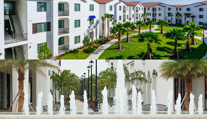 University Village by Miromar Development Corp located in Fort Myers, FL next to Florida Gulf Coast University